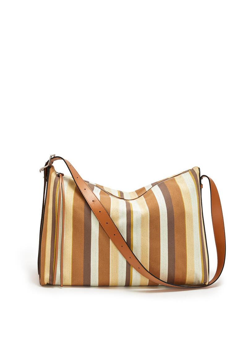 LOEWE Large Berlingo bag in canvas and calfskin Honey/Multicolor pdp_rd