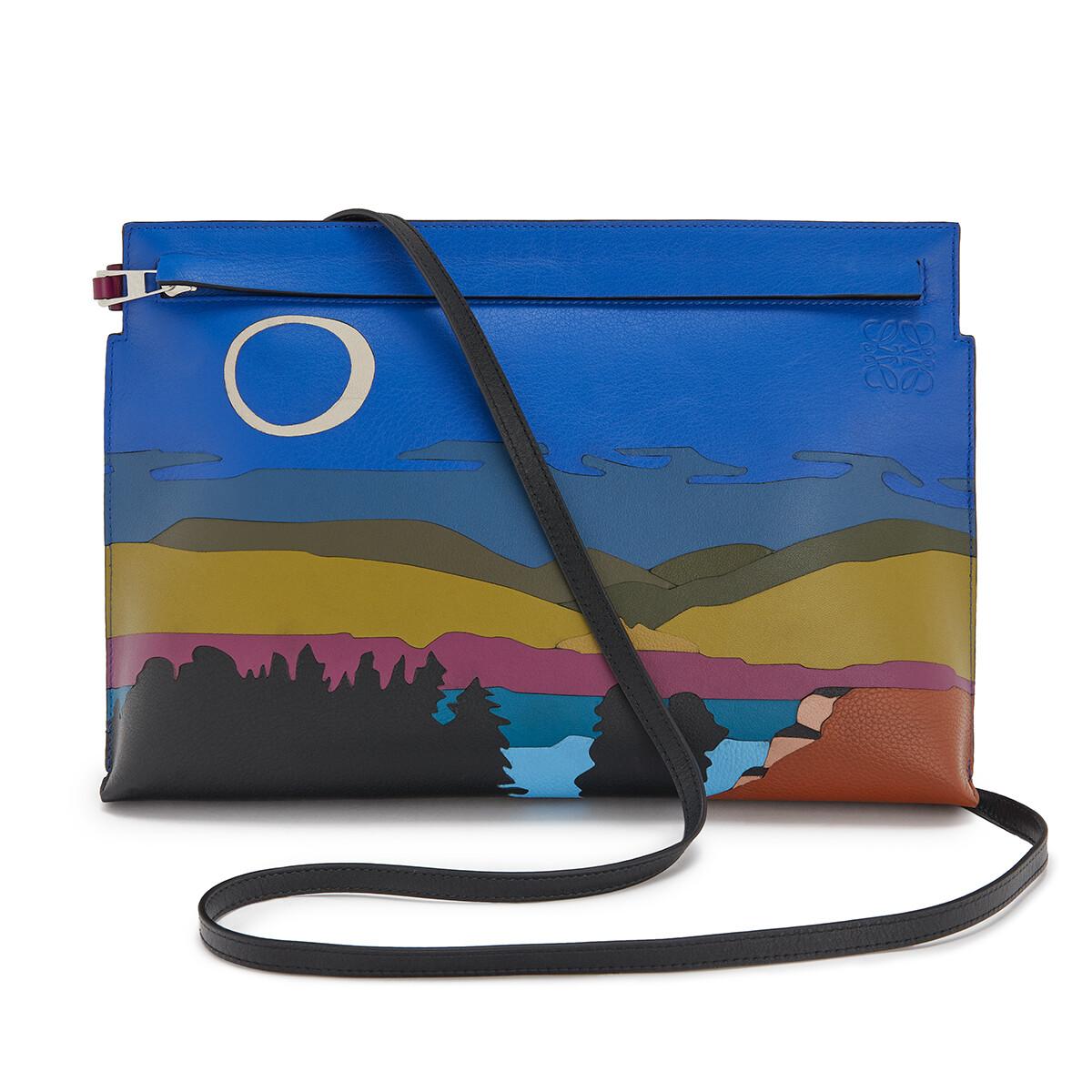 LOEWE T Pouch Landscape Bag Multicolor front