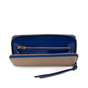 LOEWE Zip Around Wallet Sand/Electric Blue front