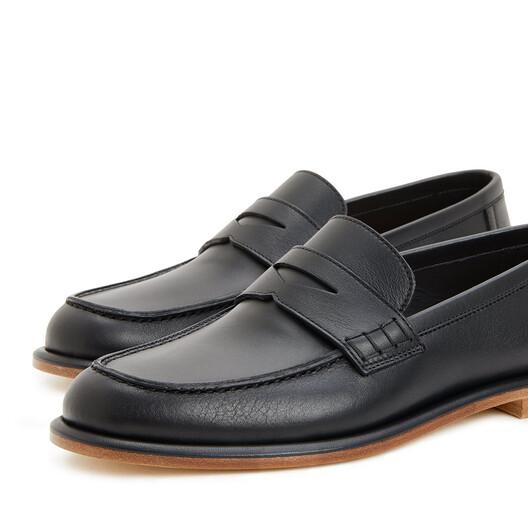 LOEWE Soft Loafer Black front