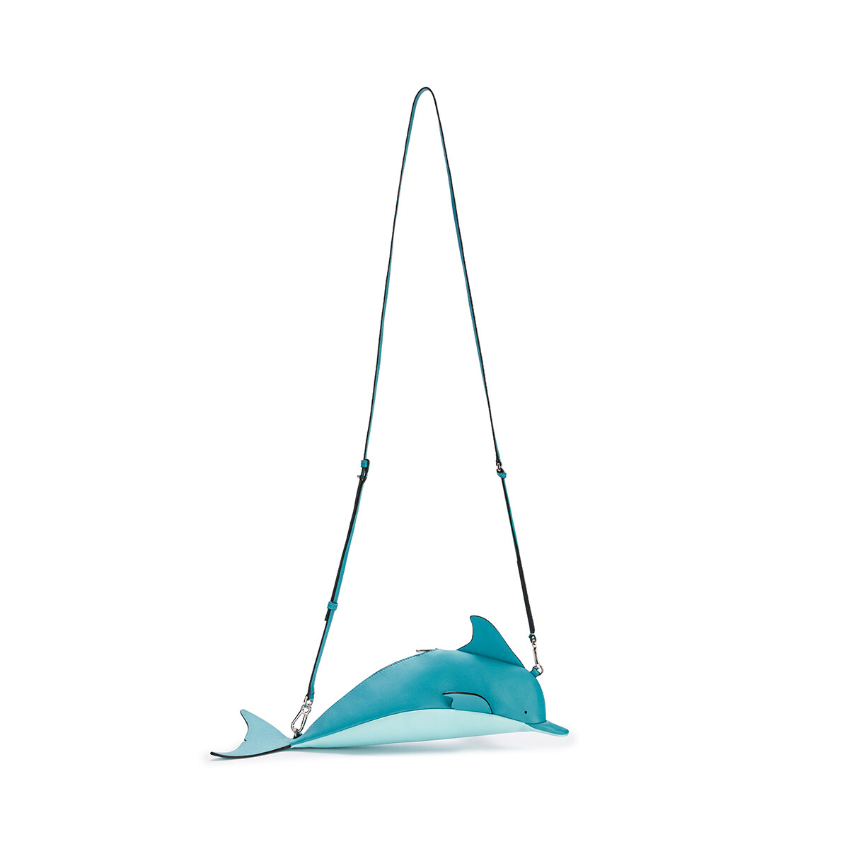LOEWE 迷你经典小牛皮海豚手袋 Dark Peacock Blue/Aqua front