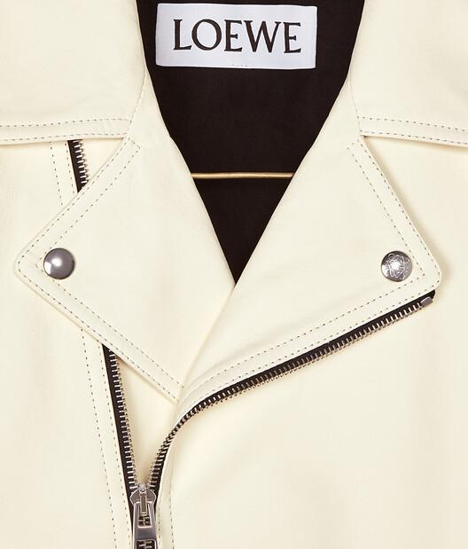 LOEWE Biker Jacket White front