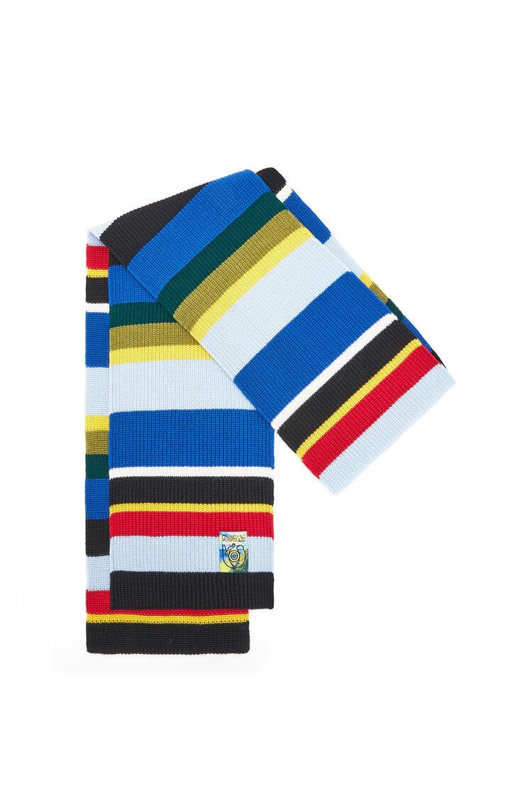 LOEWE Bufanda en punto de lana a rayas Multicolor pdp_rd