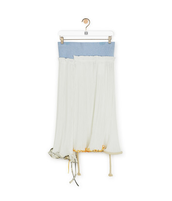 LOEWE Skirt Jelly Fish Blanco/Azul Claro front