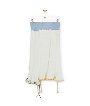 LOEWE Jellyfish Skirt - ホワイト/ライトブルー front