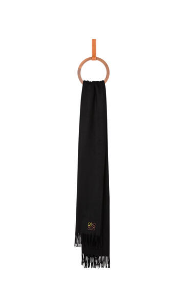 LOEWE 70 x 200 cm ロエベ アナグラム スカーフ(カシミヤ) ブラック pdp_rd