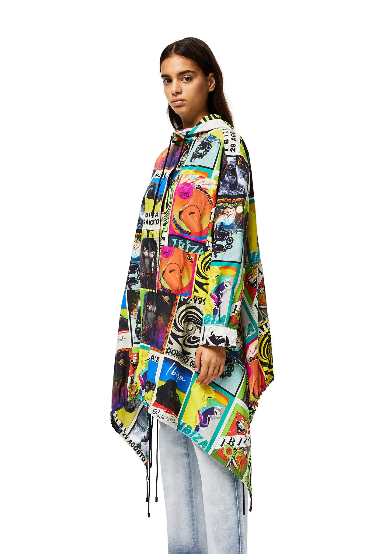 LOEWE Hoded Parka With Club Flyer Motif Multicolor front
