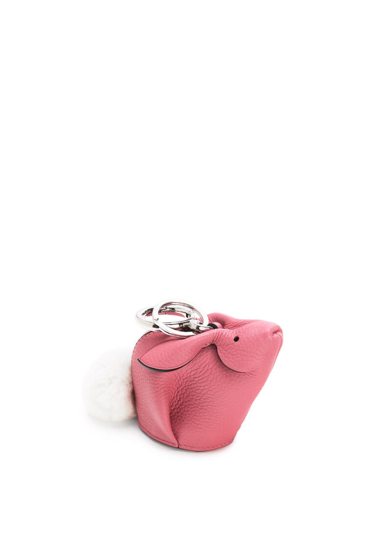 LOEWE Bunny charm in grained calfskin and shearling New Candy pdp_rd