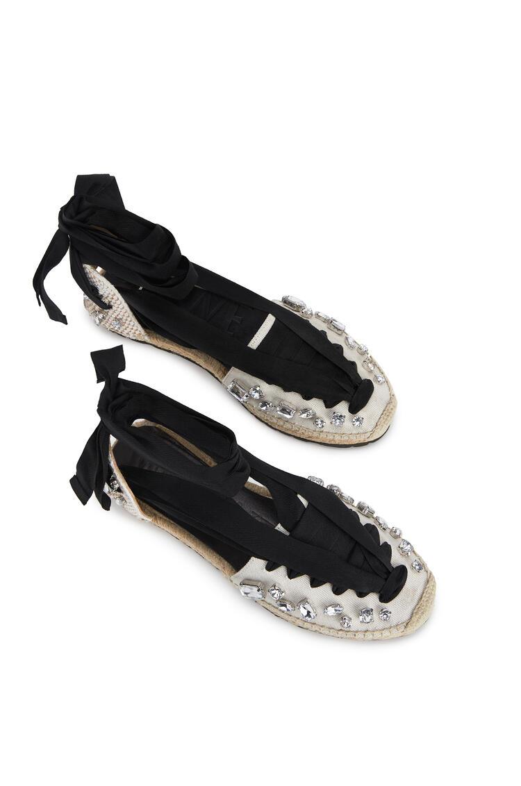 LOEWE Espadrille In Cotton Black/White pdp_rd