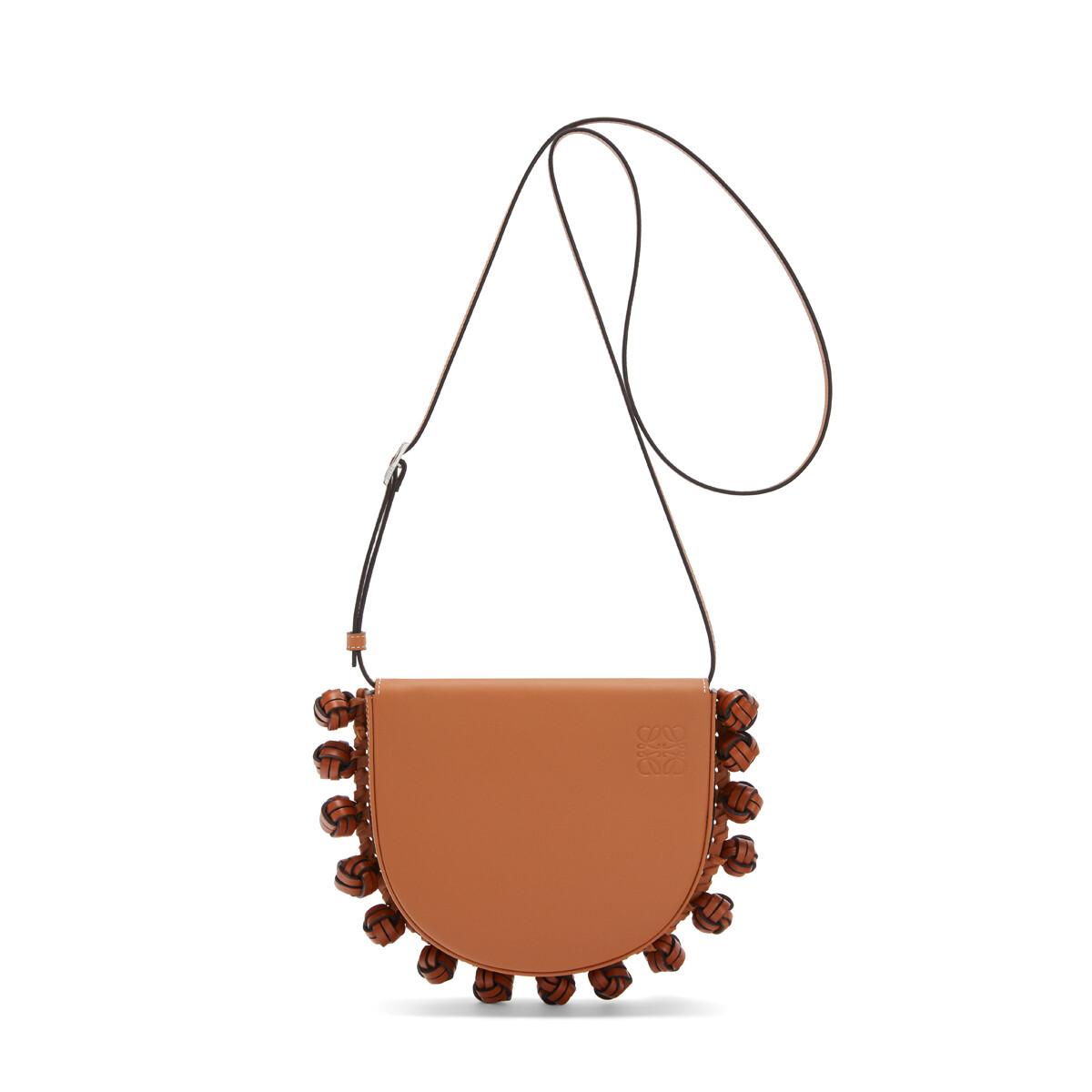 LOEWE Heel Knots Bag Tan front