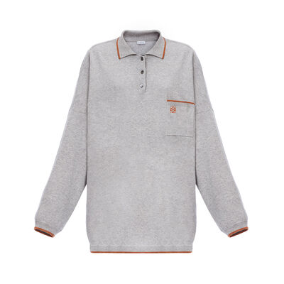LOEWE Oversize Poloneck Sweater Grey front