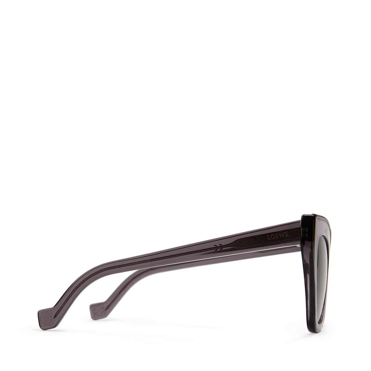 LOEWE Cateye Sunglasses Transparent Grey/Black front