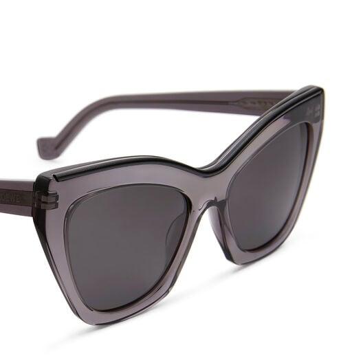 LOEWE Cateye Sunglasses Transparent Grey/Black front