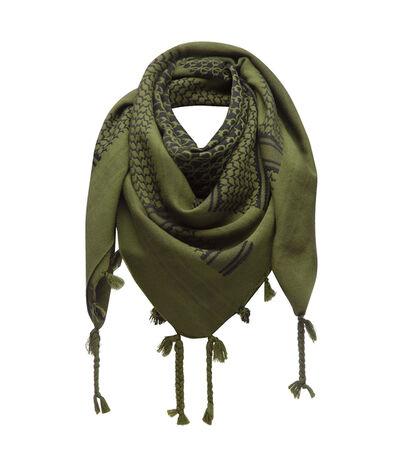 LOEWE 120X120 Scarf Keffiyeh Verde Oscuro front