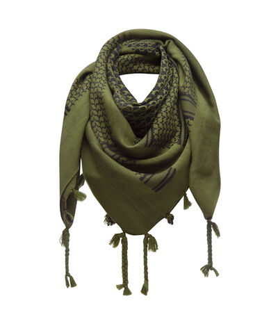 LOEWE 120X120 Scarf Keffiyeh Dark Green front