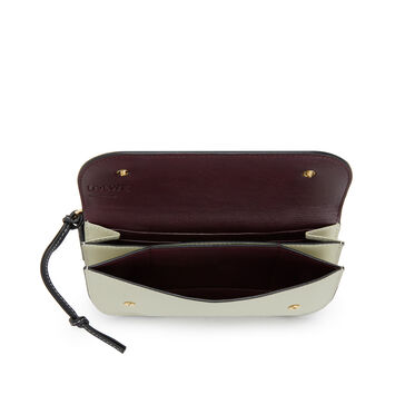 LOEWE Gate Continental Wallet Gold/Light Olive front