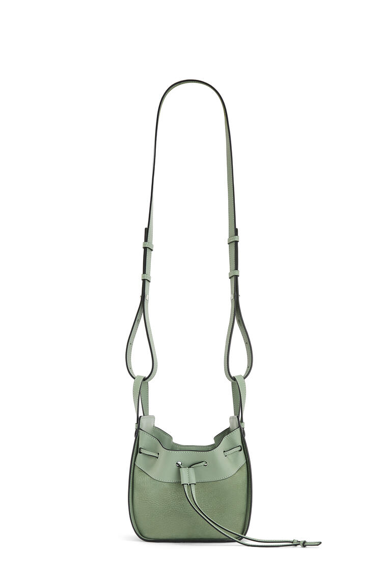 LOEWE Small Hammock Drawstring bag in calfskin and nubuck Pale Green pdp_rd