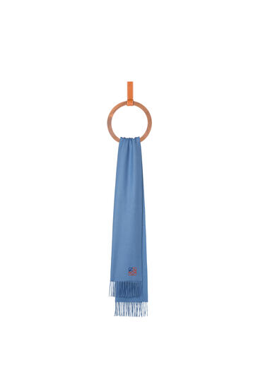 LOEWE 35 x 170 cm ロエベ アナグラム スカーフ(カシミヤ) ベイビーブルー pdp_rd