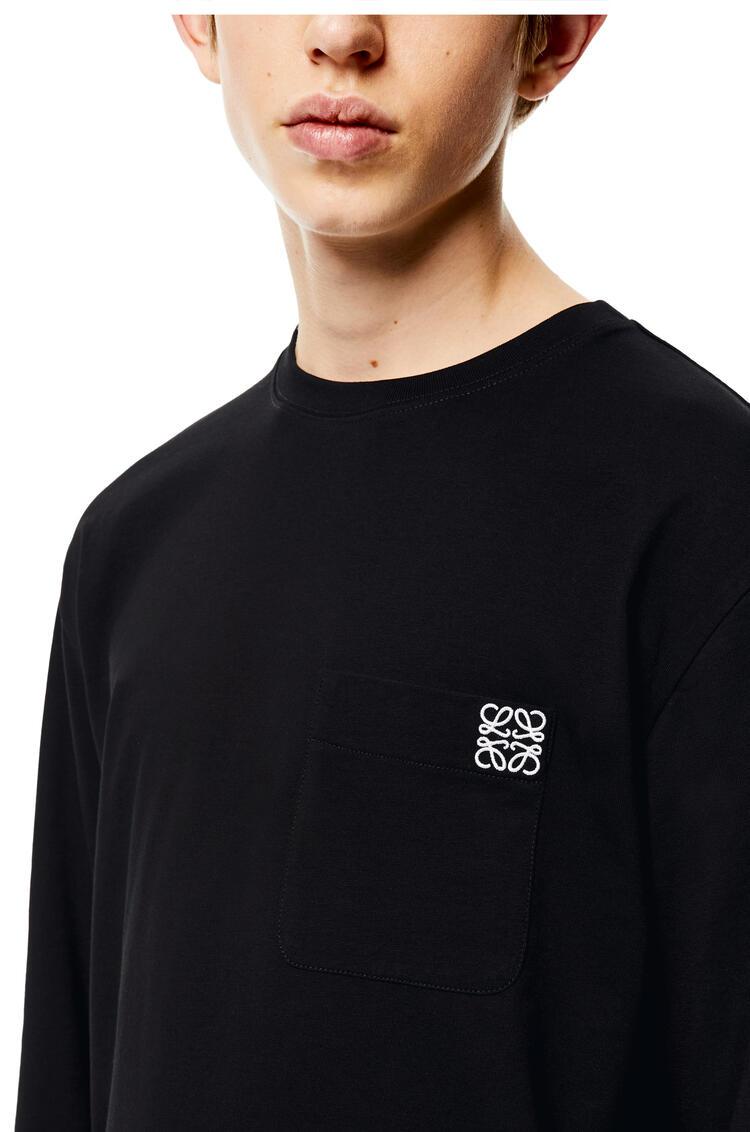 LOEWE Camiseta de manga larga en algodón con Anagrama Negro pdp_rd