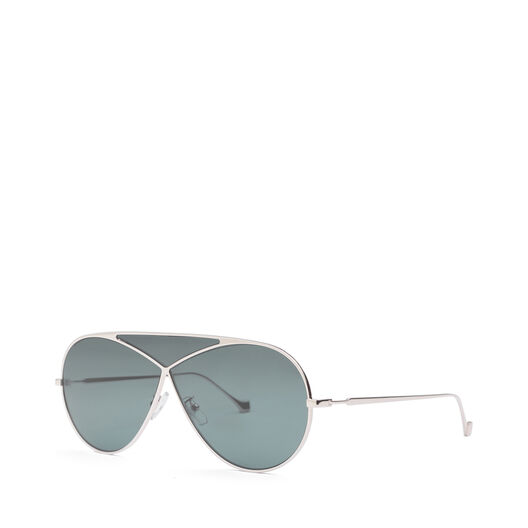 LOEWE Pilot Puzzle Sunglasses Pale Gold/Petrol all