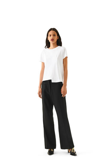 LOEWE Flare trousers in cashmere Black pdp_rd