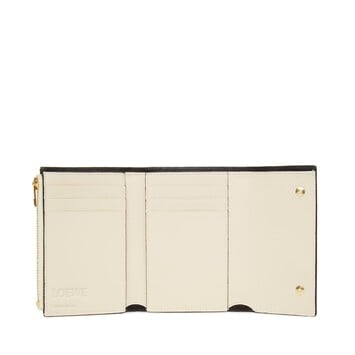 LOEWE Small Vertical Wallet Ivory front