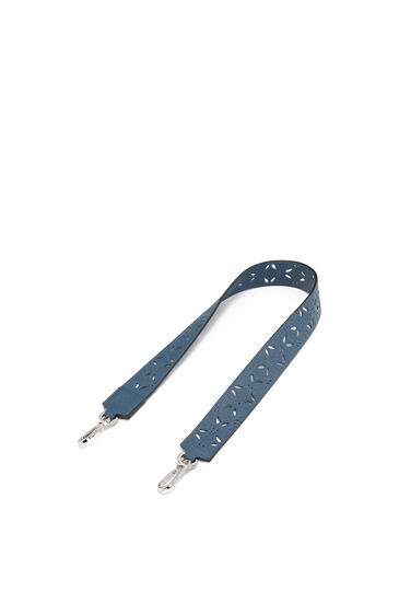 LOEWE Strap in perforated classic calfskin Steel Blue pdp_rd