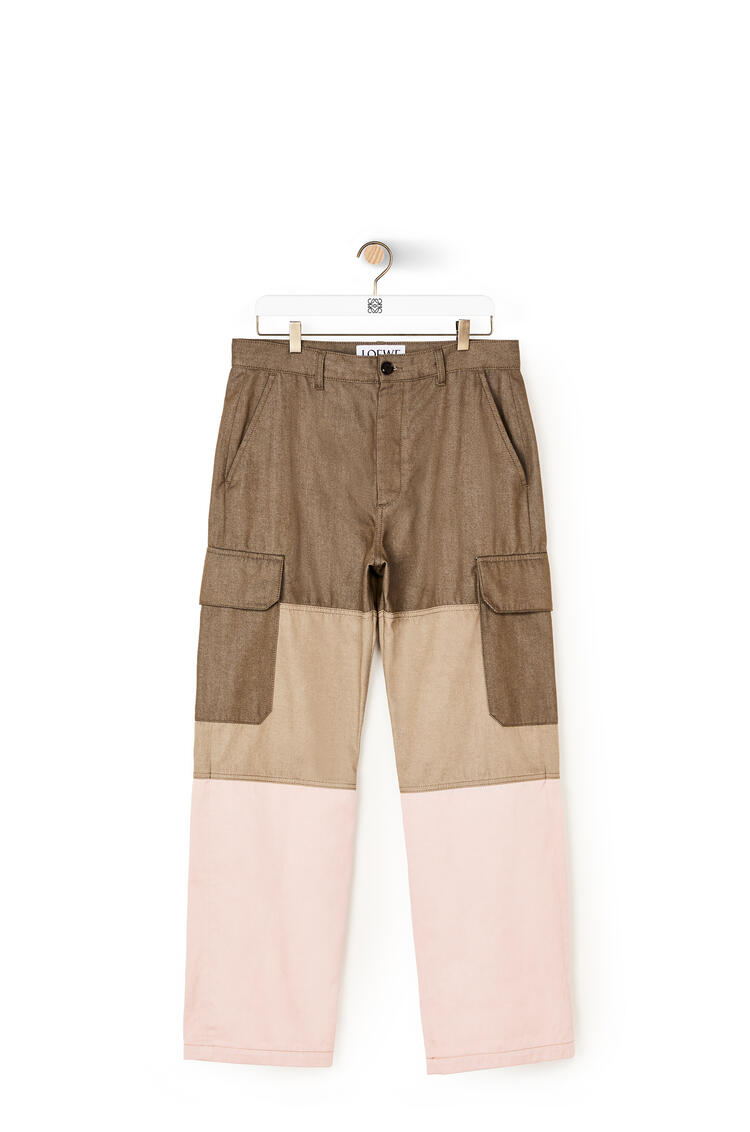 LOEWE Trousers in cotton Green/Pink pdp_rd