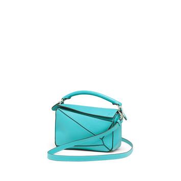 LOEWE Puzzle Mini Bag Azul Laguna front