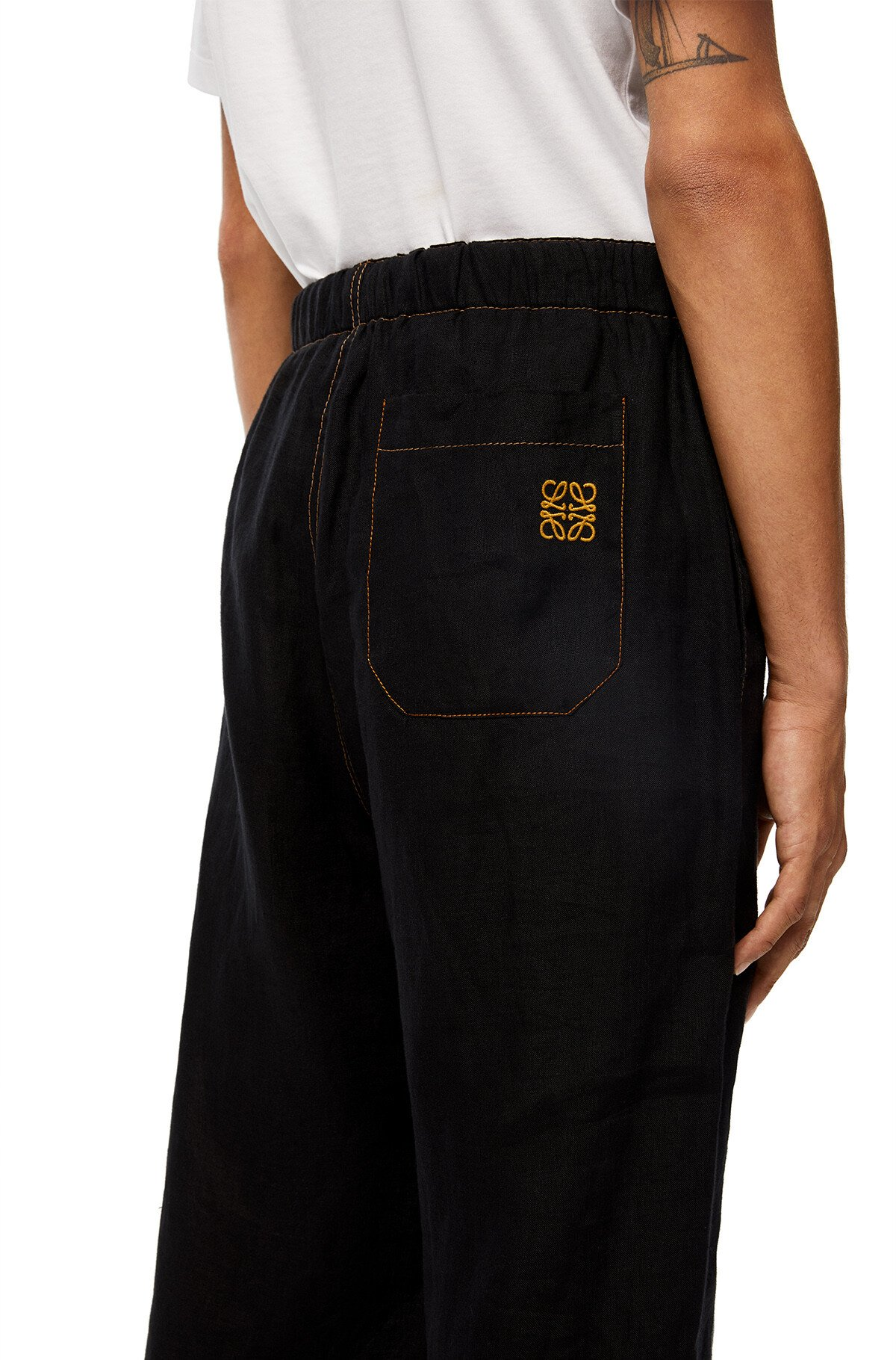 LOEWE Drawstring Trousers Navy Blue/Black front