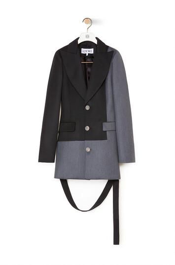 LOEWE Bicolor Jacket Gris/Negro front