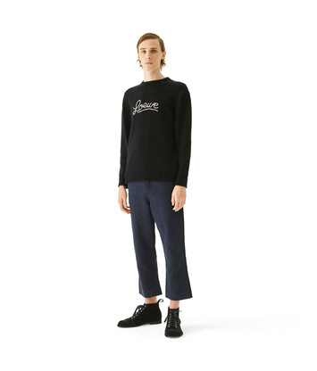 LOEWE Loewe Stitch Sweater Black front