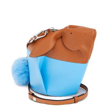 LOEWE Bolso Bunny Colour Block Mini Bronceado/Azul Celeste front