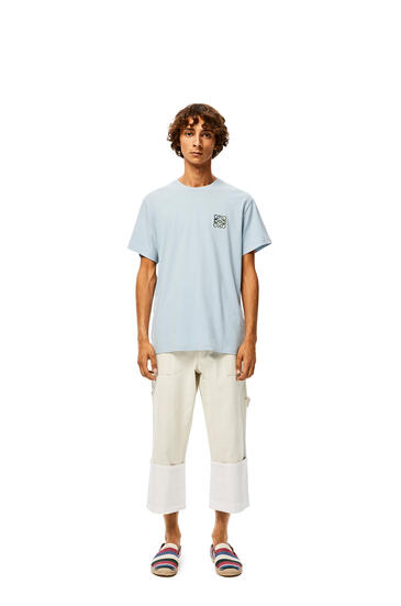 LOEWE Camiseta Anagramaen Algodón Azul Bebe pdp_rd