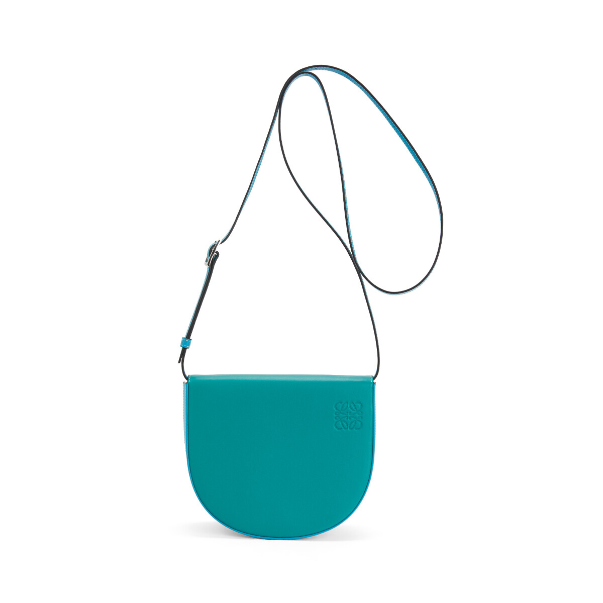 LOEWE Heel Bag Emerald Green/Peacock Blue front