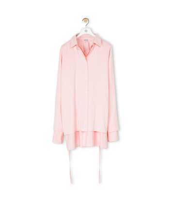 LOEWE Double Layer Shirt Baby Pink front