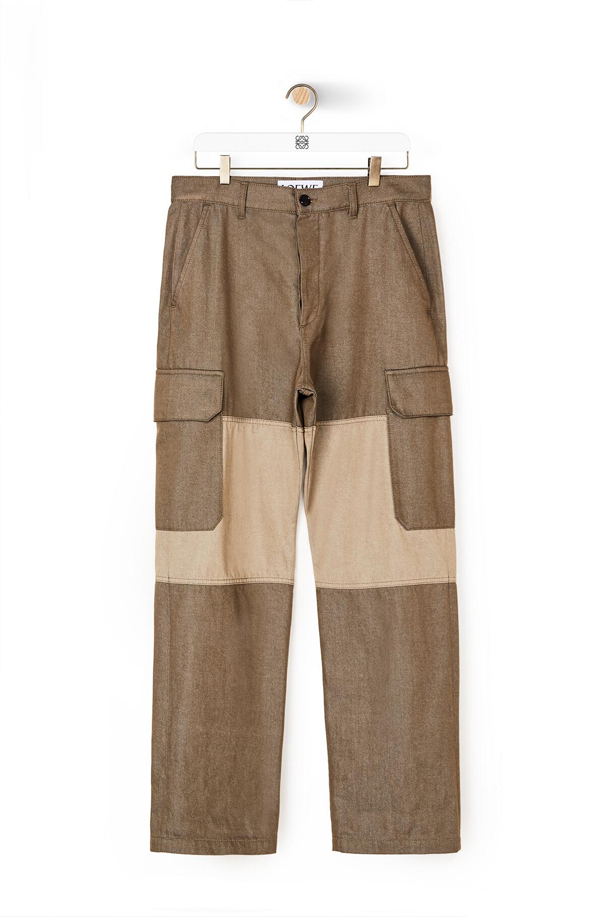"LOEWE ""EYE""自然长裤 Khaki Green front"