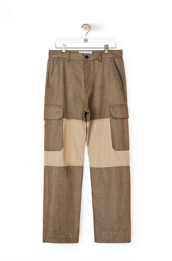 LOEWE Eln Trousers Khaki Green front