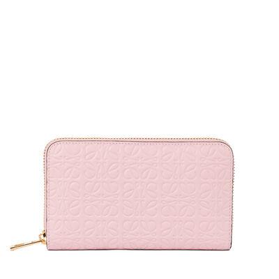 LOEWE Medium Zip Around Wallet Soft Pink front