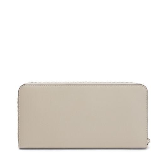 LOEWE Brand Zip Around  Wallet Light Oat/Tan front