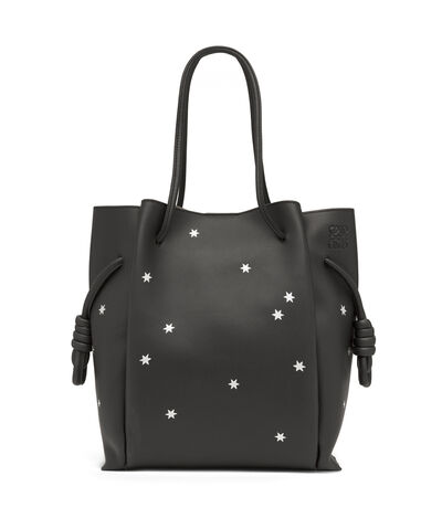 LOEWE Flamenco Knot Tote Stars Bag Black/Silver front