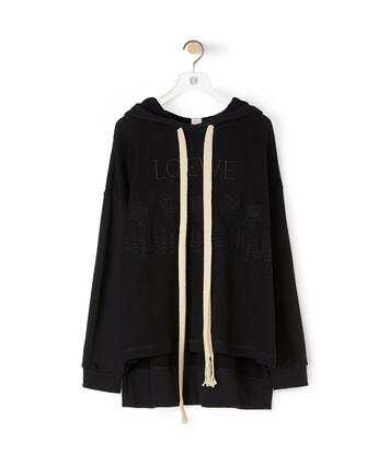 LOEWE Embroidered Hoodie Black front