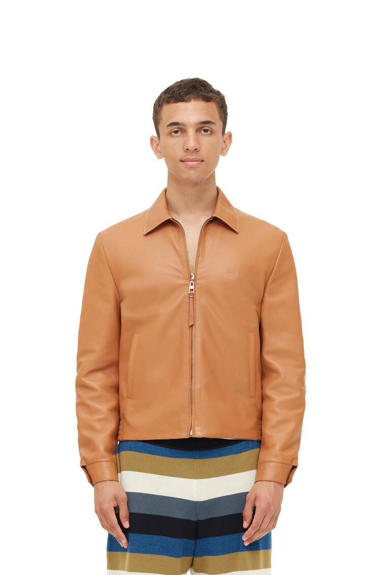 LOEWE Reversible zip blouson in nappa Light Toffee pdp_rd
