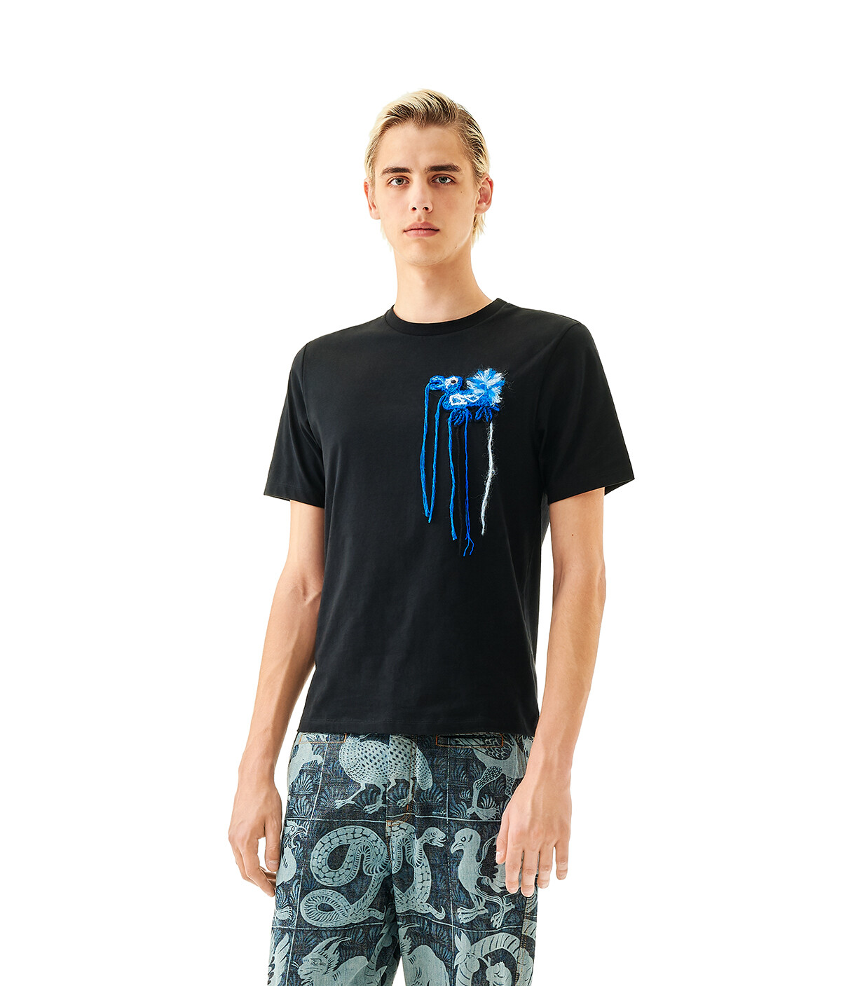 LOEWE Embroidered T-Shirt Loewe Dodo 黑色 front