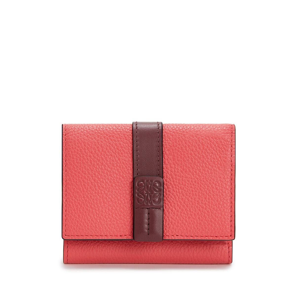 LOEWE 双折钱包 Poppy Pink front