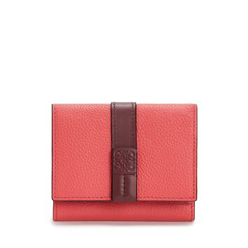 LOEWE Trifold Wallet Rosa Amapola front