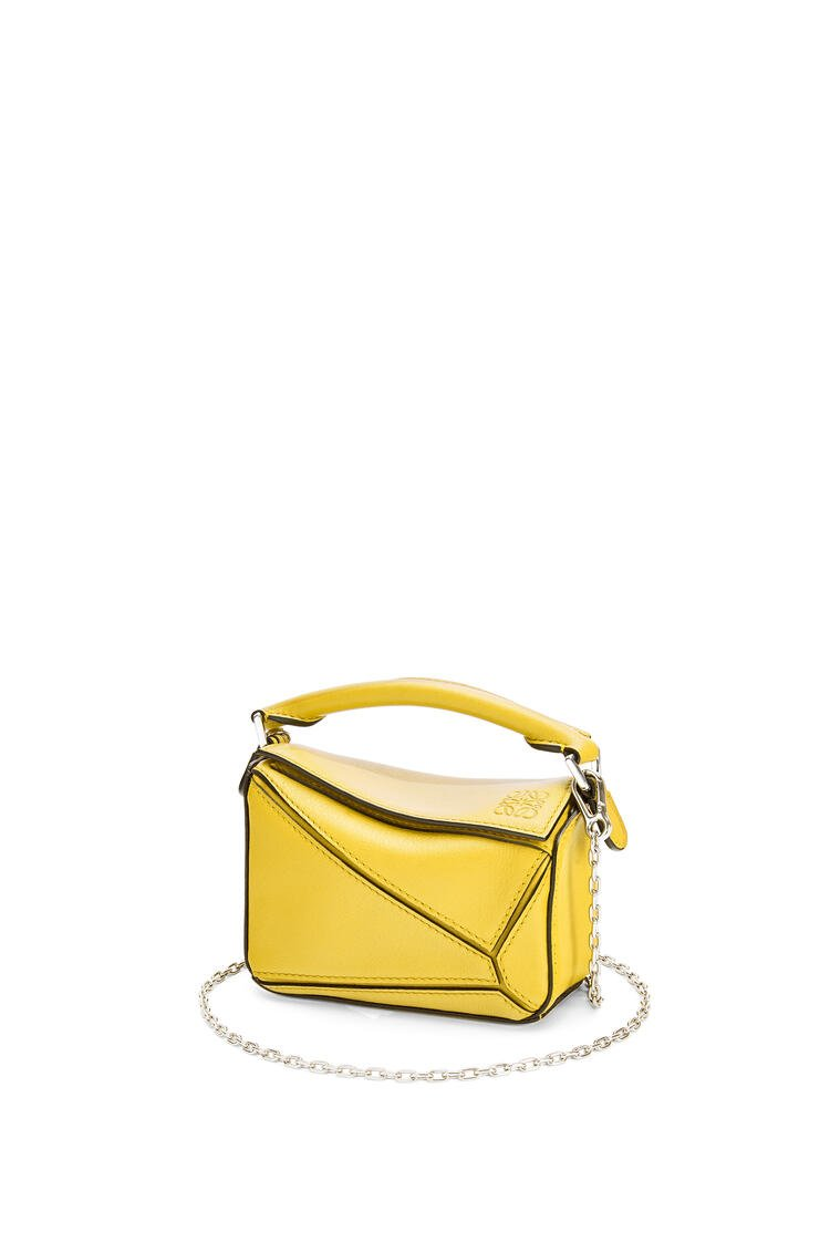 LOEWE Nano Puzzle bag in classic calfskin Yellow pdp_rd