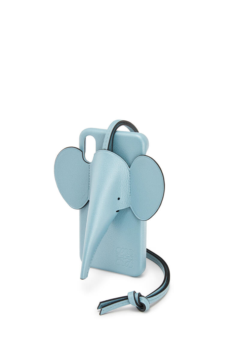 LOEWE Elephant Cover For Iphone X/Xs In Pearlized Calfskin 淺藍 pdp_rd