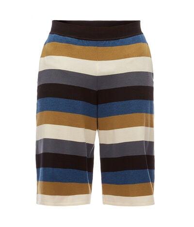 LOEWE Stripe Knit Shorts Black/Blue/Grey front