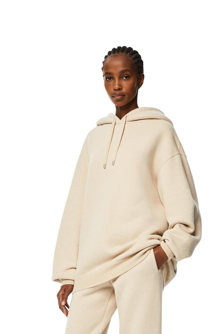 LOEWE Oversize hoodie in cashmere Ecru pdp_rd